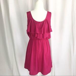 Ultra Pink ruffle dress size M
